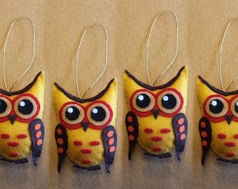 Cute OWL mascot of soft felt