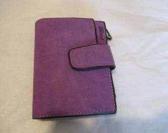 wallet purple leather wallet