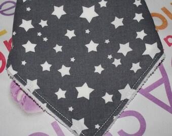 grisavec star white bandana bib