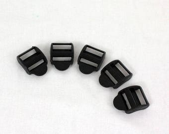 Buckles tightening black x 18 mm 10pcs