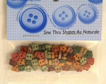 "Assortment of 45 novelty buttons - various forms ""naturale"""