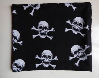 snood, cowl scarf neck skull Gothic skulls
