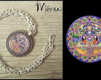 "The series ""Chakra"" - heart Chakra necklace"