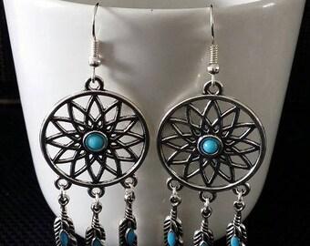 """""""Indian Dreamcatcher"""" earrings 7 cm"""