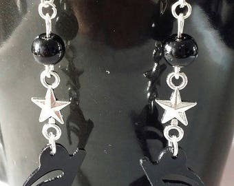 """Music Note"" earrings 7 cm"