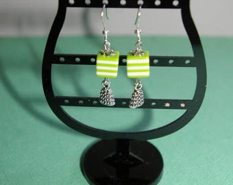 "Earrings ""My beautiful tree"" acrylic"