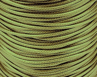 1 meter of cotton cord waxed (± 2mm) - khaki