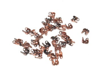 10 mini Caches bow tie, metal - wire to 0.6 mm - copper