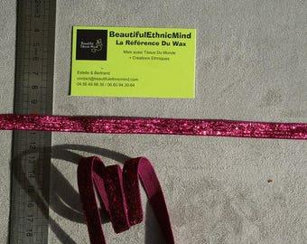 Pink Sparkly glitter Ribbon 10 mm
