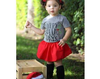 Happy Holla Days Kids Shirt, Christmas Tshirt, Christmas Kids Shirts, Holiday Shirts, Christmas shirts