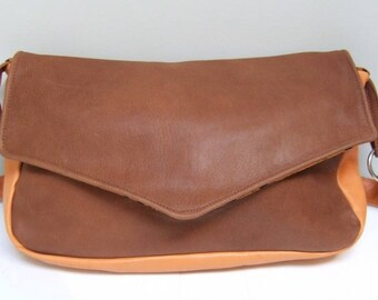 14 s bag leather red and orange
