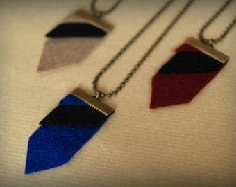 Blue geometric necklace