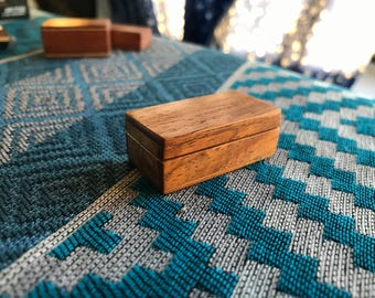 Miniature Rosewood Jewellery Box