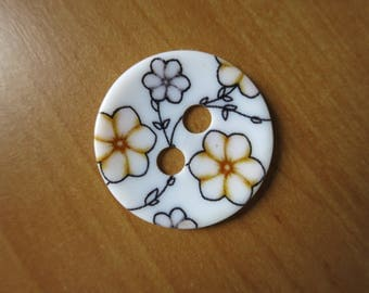 Large button flower 34 mm
