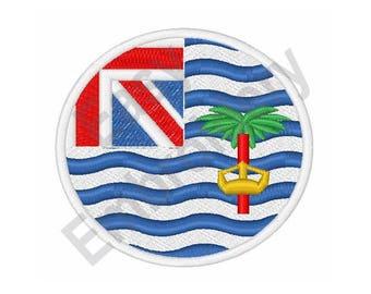 British Indian Ocean Territory Flag - Machine Embroidery Design