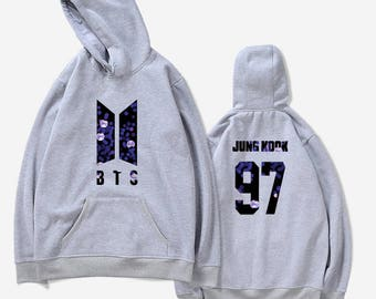 Grey BTS Army Bomb Hoodie Kpop - all members available