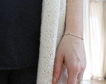 BOSS BITCH |... ||| ...... |... .. | .|.| .... Morse Code Bracelet - Sterling Silver Secret Message Jewelry - Minimal Bar Bracelet