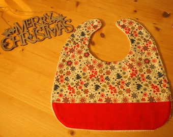 Christmas patterned bib