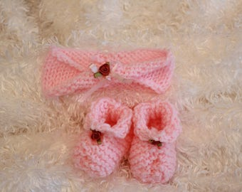 Baby Headband and Bootie set