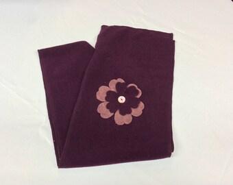 Scarf color purple fleece material