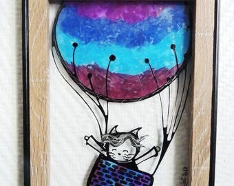 """Frame stained glass - """"Sully"""" (4)-13 * 18 cm"""