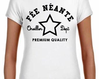 fairy neante, 100%, classic cut, white cotton women's t-shirt