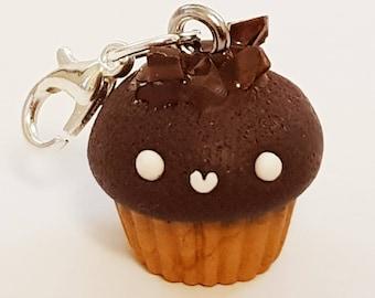 Fiver friday, Polymer clay cupcake, cupcake charm, kawaii cupcake, kawaii charm, cute cupcake charm, planner accessory, handbag charm