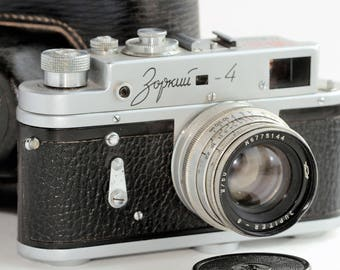 Zorki-4 Russian Rangefinder Camera 1965 Jupiter-8 M39 50 Years Soviet Rule /sv