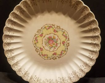 Vintage American Limoges Toledo Delight Replacement Sand Replacement 10 Inch Dinner Plate