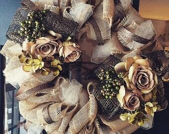 Elegant Rose Wreath