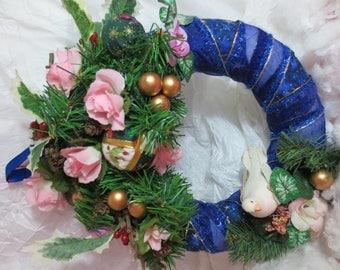 A Christmas wall decor wreath.