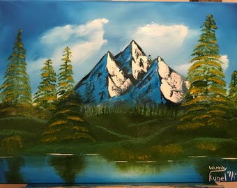"""Oil Painting """"Tranquility Mountain"""""""