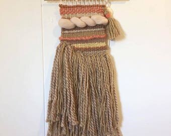 Beige and coral wall hanging(sand 1)
