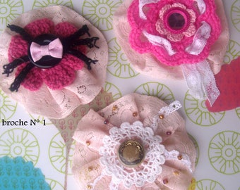 1 adorable SHABBY CHIC brooch