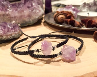 Woven Amethyst Bracelets