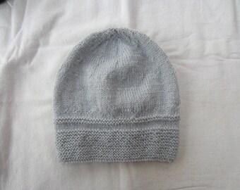 Grey baby Beanie Hat