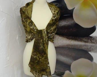 shawl or scarf in Leopard print fabric