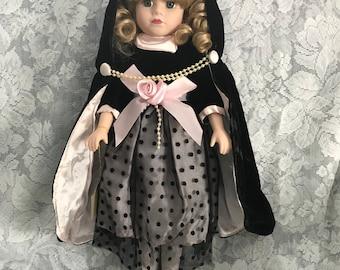 Victorian Collection: Vintage Brass Key Genuine Porcelain Doll