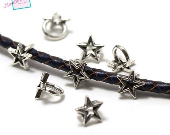 """10 pearls pink(Roses) for """"Star 002"""", silver leather strap"""