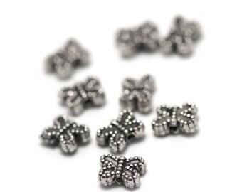 """20 pearls """"little Butterfly"""" 8 x 5 x 3 mm, silver, 018 has"""
