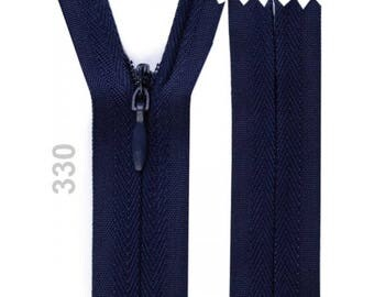 invisible zipper Blue Navy 22 cm