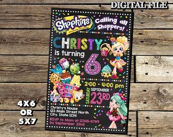 Shopkins Invitation,Shopkins Birthday Invitation,Shopkins,Birthday Invitation,Girl Invitation,Shopkins Birthday,Shopkins Party