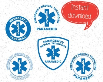 Paramedic SVGs, First Responders SVGs, EMT SVGs, Medic SVGs, Emergency Response SVGs, SVGs, Cricut Cut File, Silhouette File