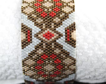 Ethnic bracelet beaded Cuff Bracelet