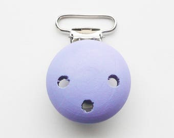 Clip / wooden pacifier Clip, from 25 mm: violet