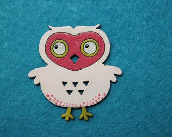 miss OWL embellishment pink triangles for scrapbooking, invitations, decoration