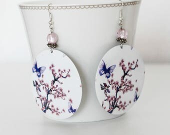 Earrings, romantic Butterfly charm