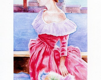 """Partial REPRODUCTION of my watercolor """"Carnival of Venice"""""""
