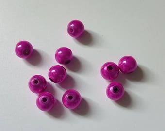 10 pearls magic fuchsia 8 mm