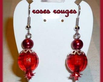 Bright red pair of earrings